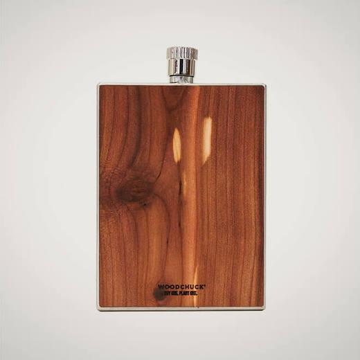 Woodchuck Wood Flask, 3 oz.