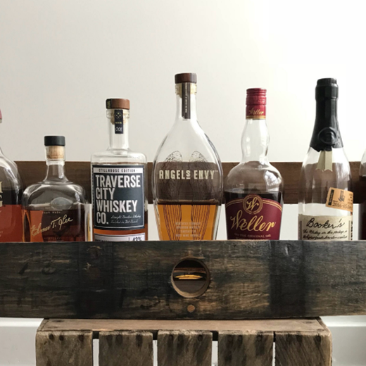 Bourbon/Whiskey Barrel Shelf